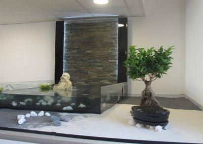 mur d'eau jardin japonais