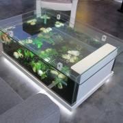 table aquarium Amazone blanche coté 2