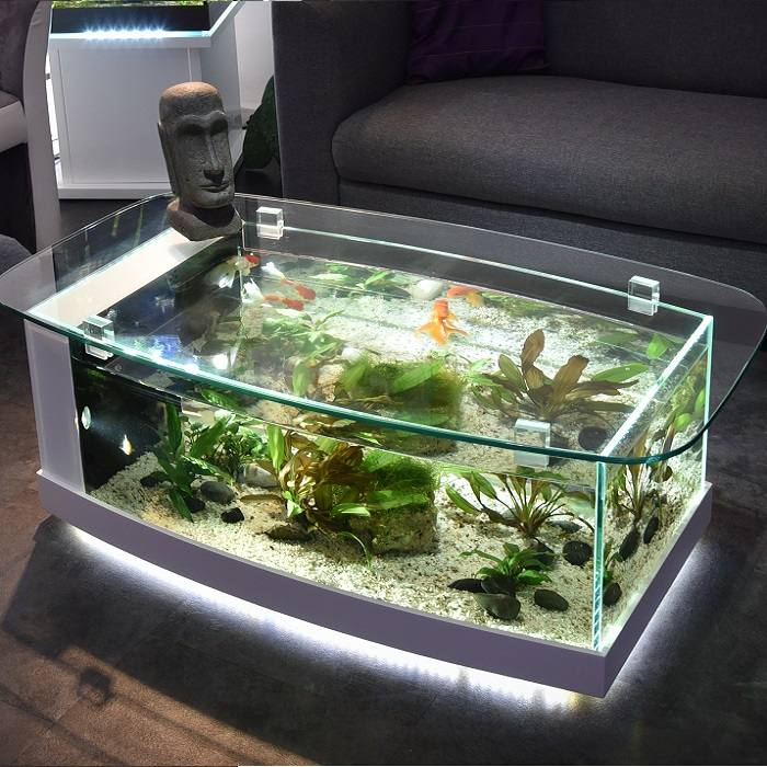 Odyssee aquarium odyssee v g tale table aquarium cintr e for Table salon aquarium