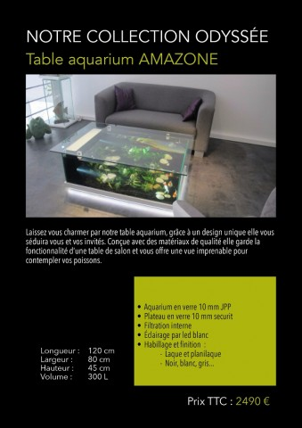 table aquarium amazone